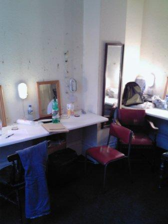 Dressing room at the Landor