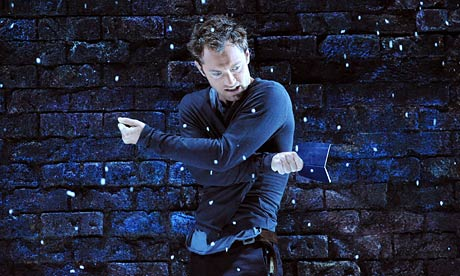 Jude Law as Hamlet, Photograph by Tristram Kenton