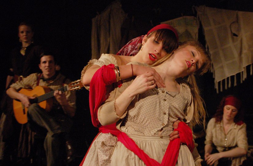 Abi Unwin-Smith and Annie Clarke in 'Dark Tales'