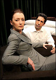 Lesley Manville and David Schwimmer