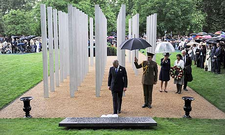 The 7/7 Memorial Hyde Park. Photograph: Jeremy Selwyn