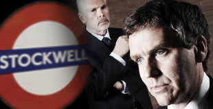 Kevin Quarmby as the Coroner Michael Wright and David Hepple as DCI McDowall in Stockwell